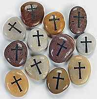 Cross Faith Natural Memorial Stones