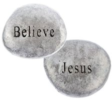 Jesus / Believe Pocket Stones Pewter