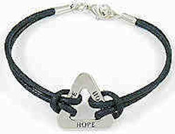 Hope Triangle Corded Bracelet