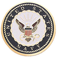 Navy Medallion Coin Decal
