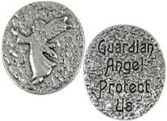 Guardian Angel Protect Us Pocket Coin