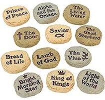 Names of Jesus Worry Stones  (Pkg of 12)