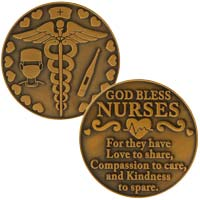 God Bless Nurses Coin - Nurse Thank you Gifts