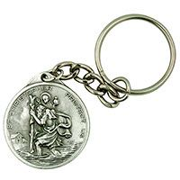 St. Christopher/Anthony Travelers  Keychain