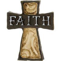 Faith Cross Pocket Stone