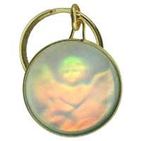 Cherub Angel Holographic Keychain