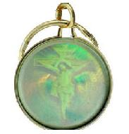 Crucifix Spirit Dove Holographic Key Chain