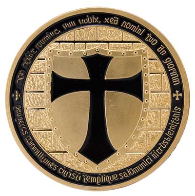 Gold and Red Knights Templar Coin