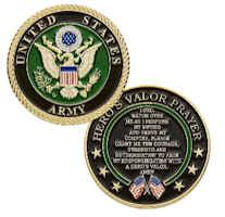 USA Army Coin Hero's Valor Prayer Deluxe