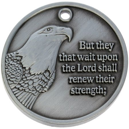 Wings as Eagles Pewter Inspiration Coin