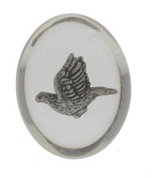 Confirmation Spirit Dove Clear Pocket Stone