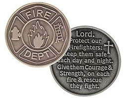FireFighters Prayer Pocket Coin Pewter