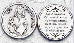 St Dymphna,Stress, Anxiety, Mental Health Coin