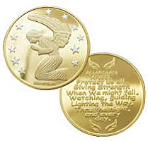 Gold Guardian Angel Protect Us Coins