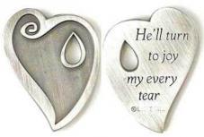 Reunion Heart Memorial Coin w Tear