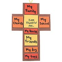 Thanksgiving Cross Craft Kit (Pkg of 12 kits)