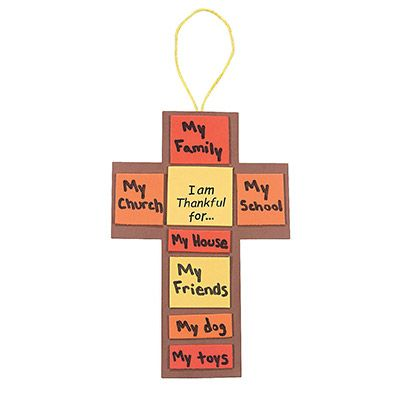 Thanksgiving Cross Craft Kit Pkg Of 12