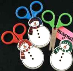 Children's Scissors and Snowman Case Set