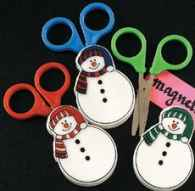 Children's Scissors and Snowman Case Set