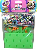 Loom Band Bracelet Kit: Loom Board, 300 Bands, Clasps, Charms, Hook