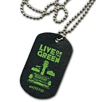 Custom Recycled Tire Dog Tags - Minimum Order of 300