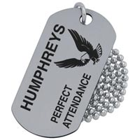Stainless Steel Dog Tag Printed 1 Color Minimum 100