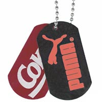 Pad Printed Dog Tags (100 Min)