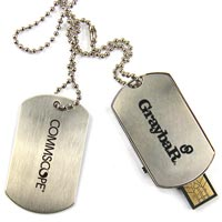 Custom Metal Dog Tag 2 GB USB Flash Drive