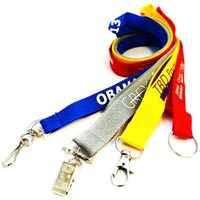 Economy Custom Polyester Lanyards 1/2 Inch Wide