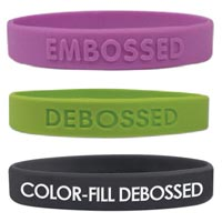 Custom Silicone Bracelets-Debossed or Embossed