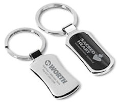 Laser Engraved Chrome Keychain (100 or More)