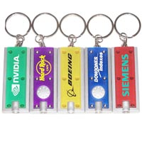 Slim Rectangular Flashlight Keychain