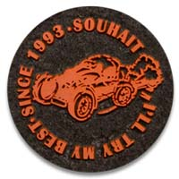 2 1/2 Inch PVC on Fabric Patches
