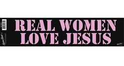 Real Women Love Jesus Bumper Sticker