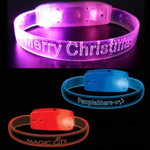 Custom LED Light-up Silicone Bracelets- 500 minimum
