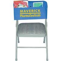 Custom Screen-Printed Felt Chair Cover w/ Pocket