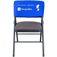 Custom Screen-Printed Twill Chair Cover w/ Pocket