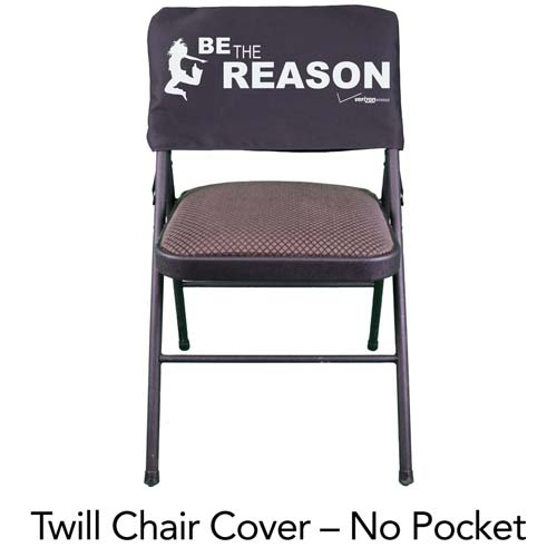 Marvelous Custom Screen Printed Twill Chair Cover 75 Minimum Pabps2019 Chair Design Images Pabps2019Com