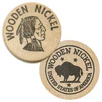 Custom Wooden Nickel Coins
