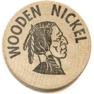 Custom Wooden Nickel Coins