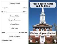 Custom church Bulletins 4 Color 8 1/2 x 14 Inch