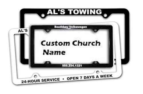 Custom Church Auto Plate Frames (250 minimum?