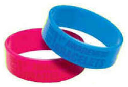 Awareness Bracelets Wide Embossed /Debossed Imprint
