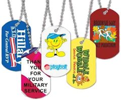 Custom Metal Dog Tags Living Color, 144 Minimum