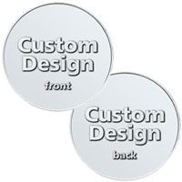 Custom Natural Aluminum Coins