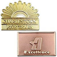 Custom Two-Toned Lapel Pin - 1 1/4 Inch