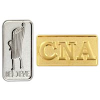 Custom Two-Toned Lapel Pin - 3/4 Inch