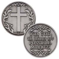 Custom Pewter Coins   1 1/4 inch
