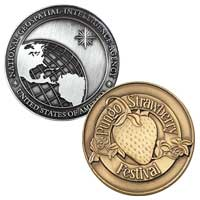 Custom Die Struck Coins - 1 1/4 Inch 2 Sided