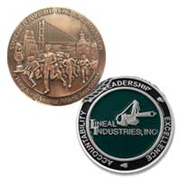 Custom Die Struck Coins - 1 1/2 Inch 1 Sided